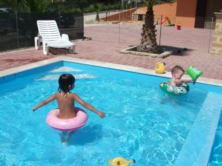 Children enjoying the shallow end (60cm deep) of the pool...!!