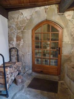 Arched entrance door
