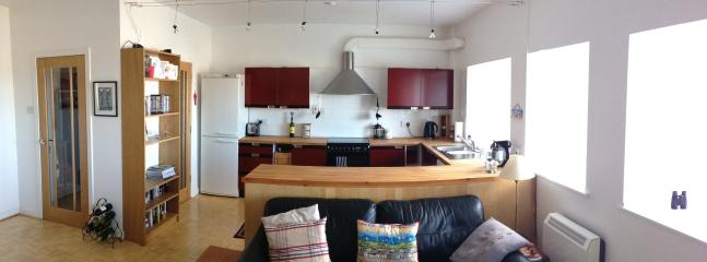 Looking towards kitchen area