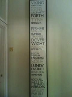 'The Shipping Forecast'. The house is decorated with many original and limited edition artworks