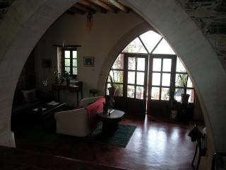 View to lower sitting area