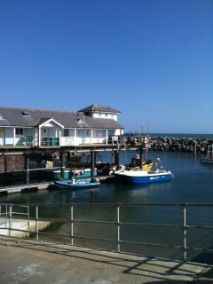 Ventnor's pretty fishing harbour, 20 minutes walk away. Home of the Island's famous 'Crab on Chips'