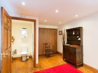 The inner hall with cloakroom door open