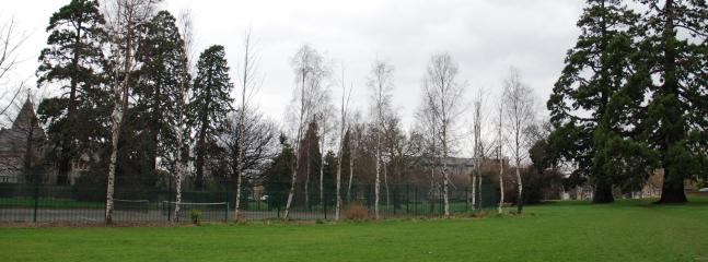 Tennis courts, 150 metres from house