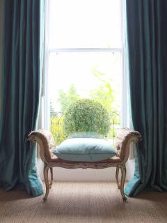 Beau Nash Suite - Regency period antiques (unrestored Chippendale stool with Irish silk pillow top)