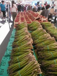 New season asparagus and strawberries are a highlight of visiting the nearby markets in Spring.