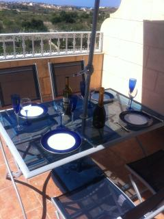 Balcony table for alfresco dining