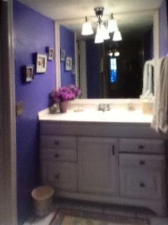 Separate vanity area