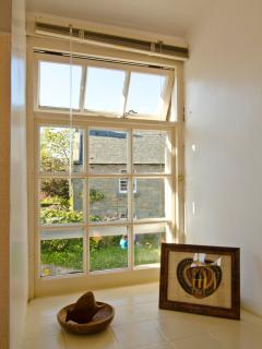 Main bedroom window looks out onto quiet Kilrenny Main Street and the Old School House opposite