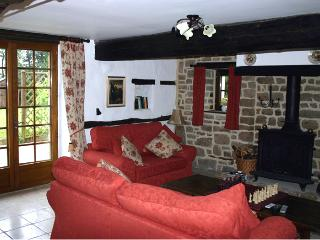 Lounge sitting area with log burner