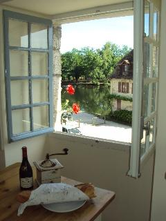 View from front window of 'Fleurie' across the Dordogne