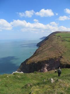 The SW coast path at Coombe Martin.