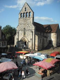 The local market outside Riverside House every Monday