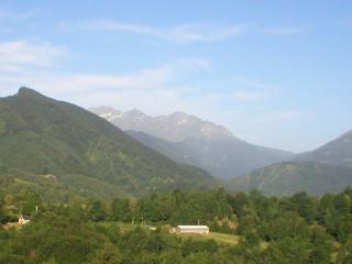 The view in summer (towards the Mirabat, Col de la Core, lower slopes of Mt Valier).