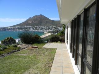 looking out over Simonstown from the garden