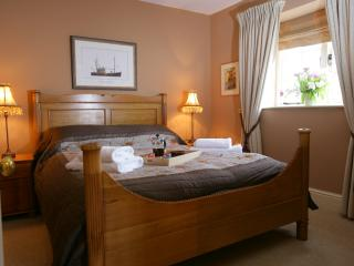 Master Bedroom overlooking the private terrace.  Luxurious Egyptian cotton is used throughout