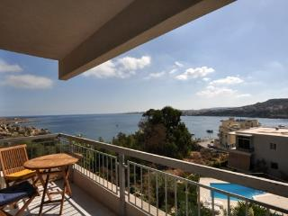 Fekruna (Turtle Bay) - Stunning Seaview  +  Pool in Xemxija - St.Paul's Bay