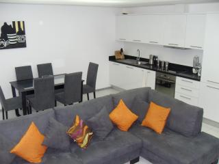Living area/kitchen diner with corner sofa