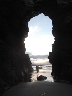 Arco natural de La Playa de Las Catedrales.
