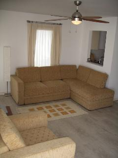 The lounge has comfortable seating