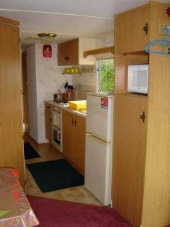 Galley kitchen 3 bedroom mobile home caravan domaine de kerlann Brittany
