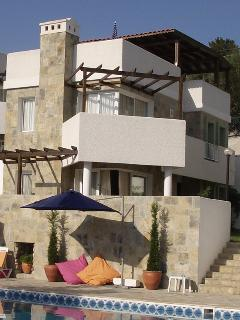 The villa is close to the pool