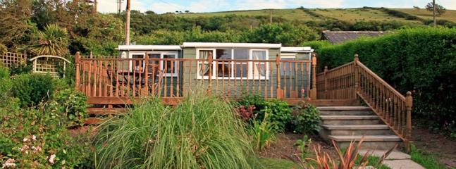 Grandscale garden surrounds cabin