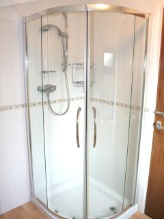 Ensuite bathroom with a power shower