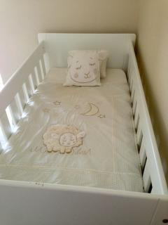Bedroom 2 - with baby cot