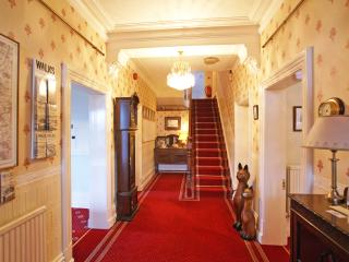 Entrance hall. Leading of to the Lounge/Bar, Kitcken and Dining Room. Stairs up to the first floor.