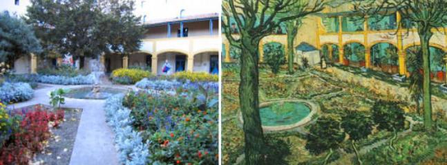 Espace Van Gogh as he painted it & present day
