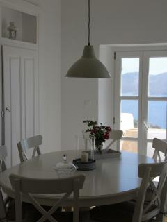 Dining room with stunning sea view