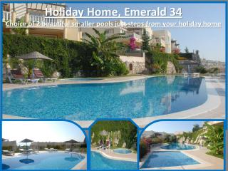 Stunning swimming pools set around the complex just metres away from your holiday home