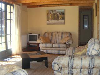 Living area with patio doors