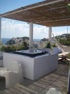 Summer living room terrace