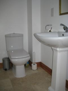 Bathroom - Bath, sink, toilet and walk in shower
