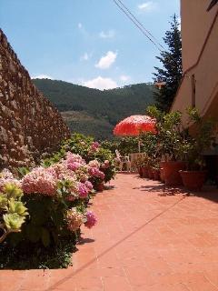 Giardino con affaccio verso il Monte Serra