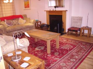 Spacious lounge with flat screen TV with Sky, WiFi and iPod docking station. Open fire plus CH.