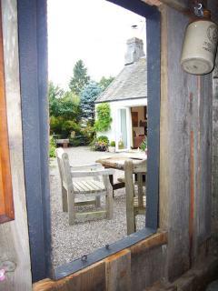 View from garden hut