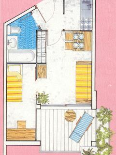 Lay out of the apartment