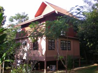 Back side of the villa