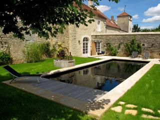 Burgundy farmhouse
