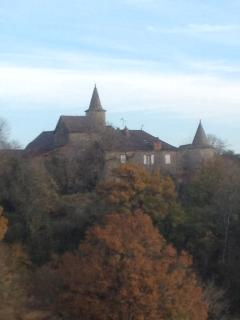 View of the chateau at 'La Badogue'