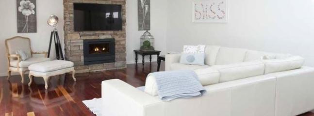Enjoy our gas log fire and huge LCD screen TV.