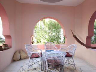 Outside terrace with hammock