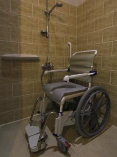 European shower chair available for rent for the disabled guest