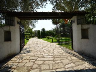 Gated entrance of the Villa