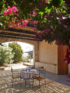 Veranda coperta Dammuso Sicilia