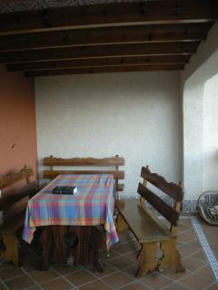 La mesa de la terraza