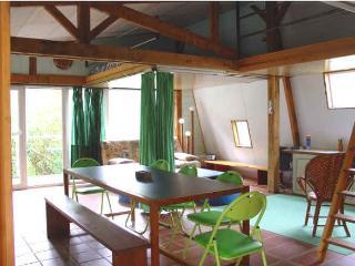 séjour salon mezzanine gîte vert, côté sud